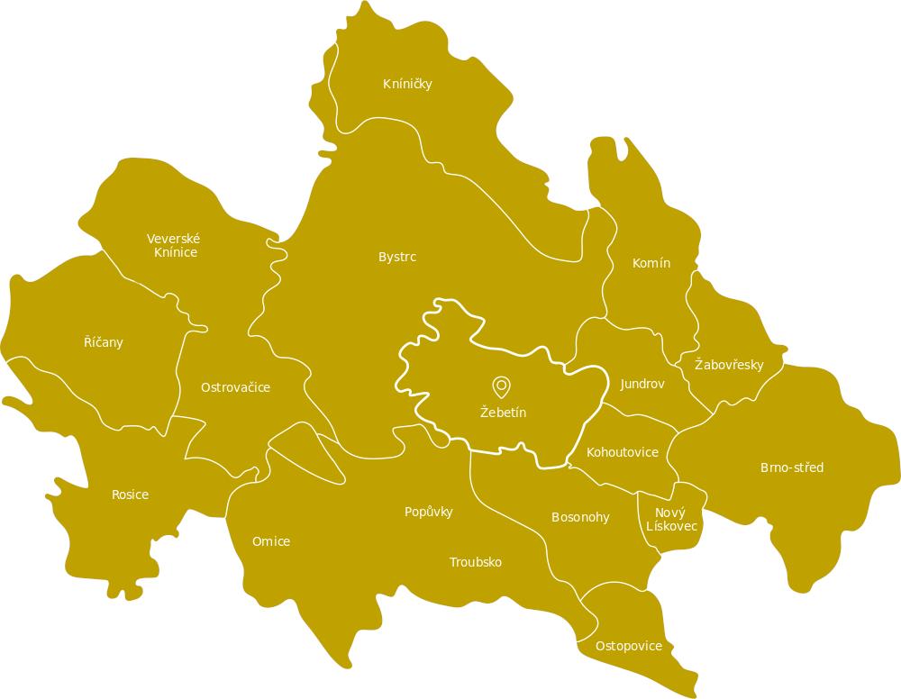 Mapa rozvozu U Richarda