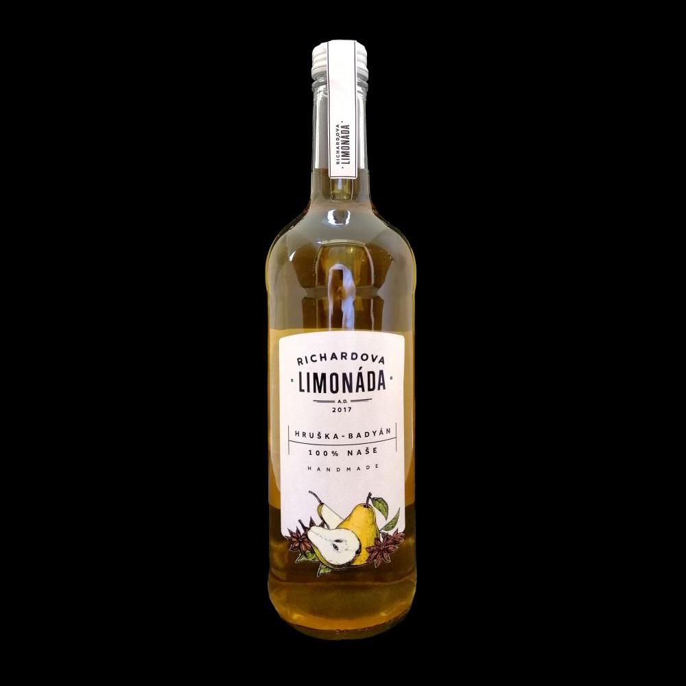 Richardova limonáda 750ml - Hruška badyán
